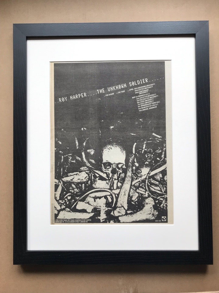ROY HARPER - UNKNOWN SOLDIER (A)(FRAMED) - Poster / Display