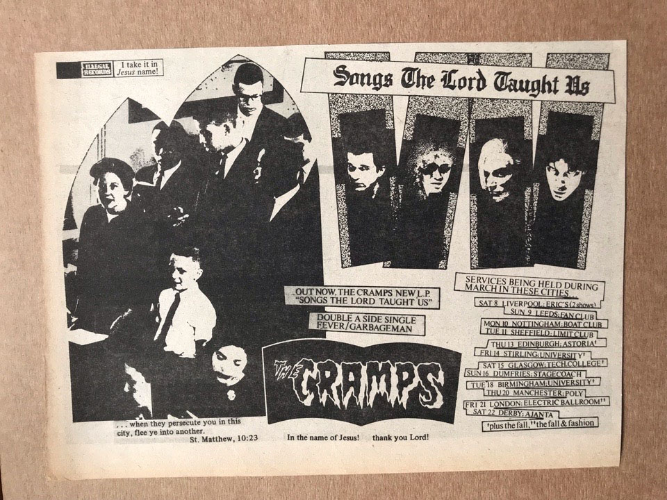 CRAMPS - SONGS THE LORD TAUGHT US - Autres