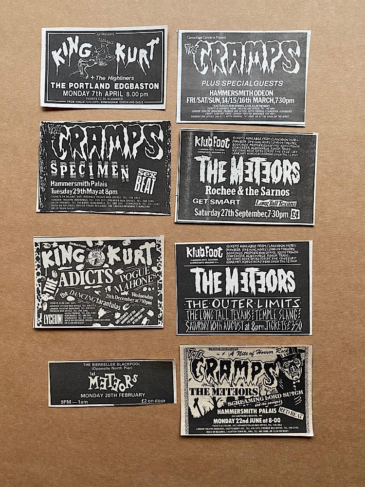 METEORS/CRAMPS/KING KURT - SMALL GIG CUTTINGS(B) - Autres
