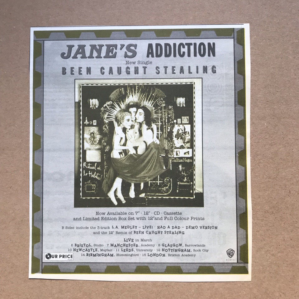 JANES ADDICTION - BEEN CAUGHT STEALING - Others
