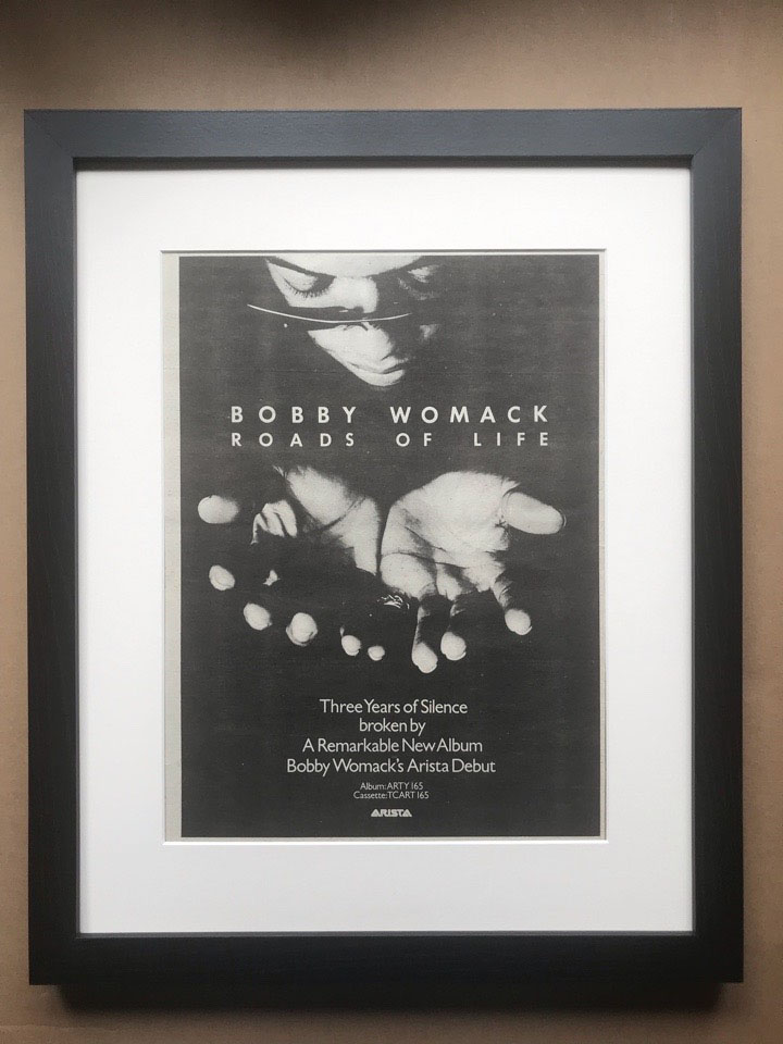 BOBBY WOMACK - ROADS OF LIFE (FRAMED) - Poster / Display