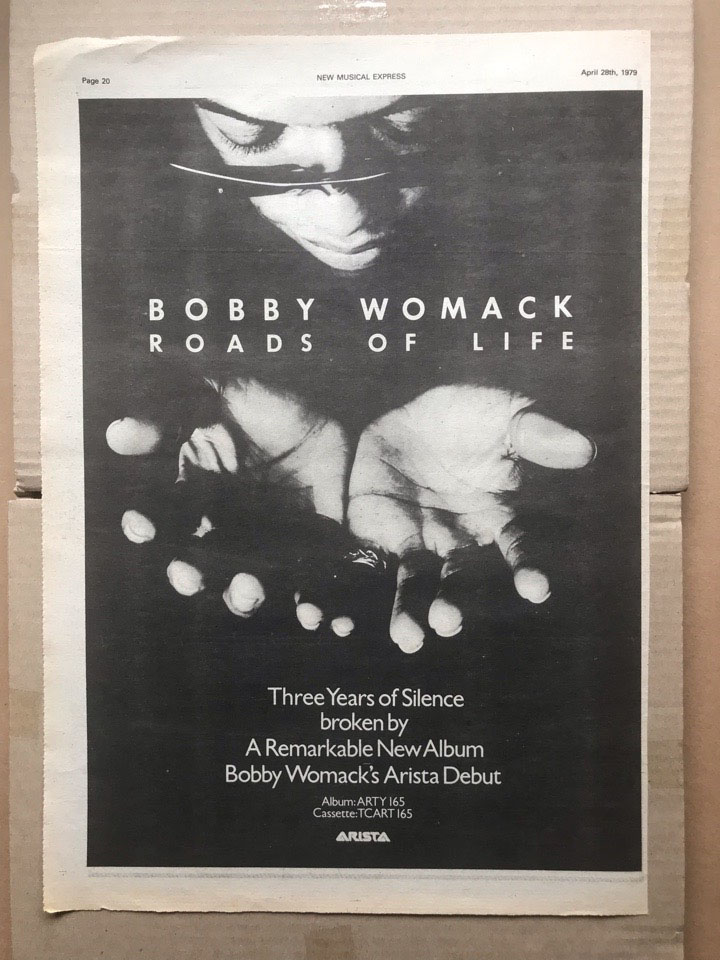 BOBBY WOMACK - ROADS OF LIFE - Poster / Display