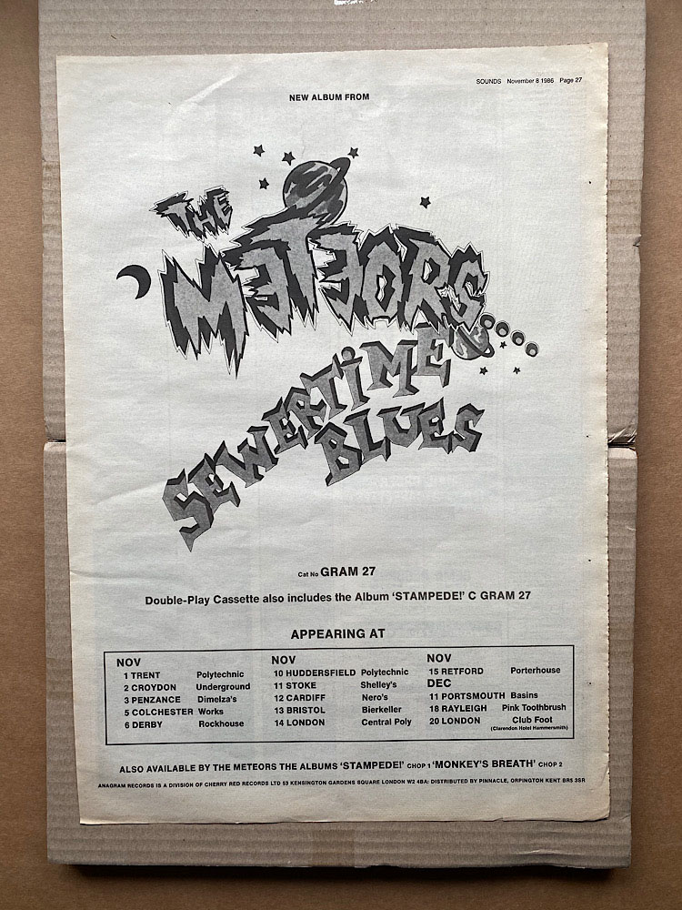 METEORS - SEWERTIME BLUES - Poster / Affiche