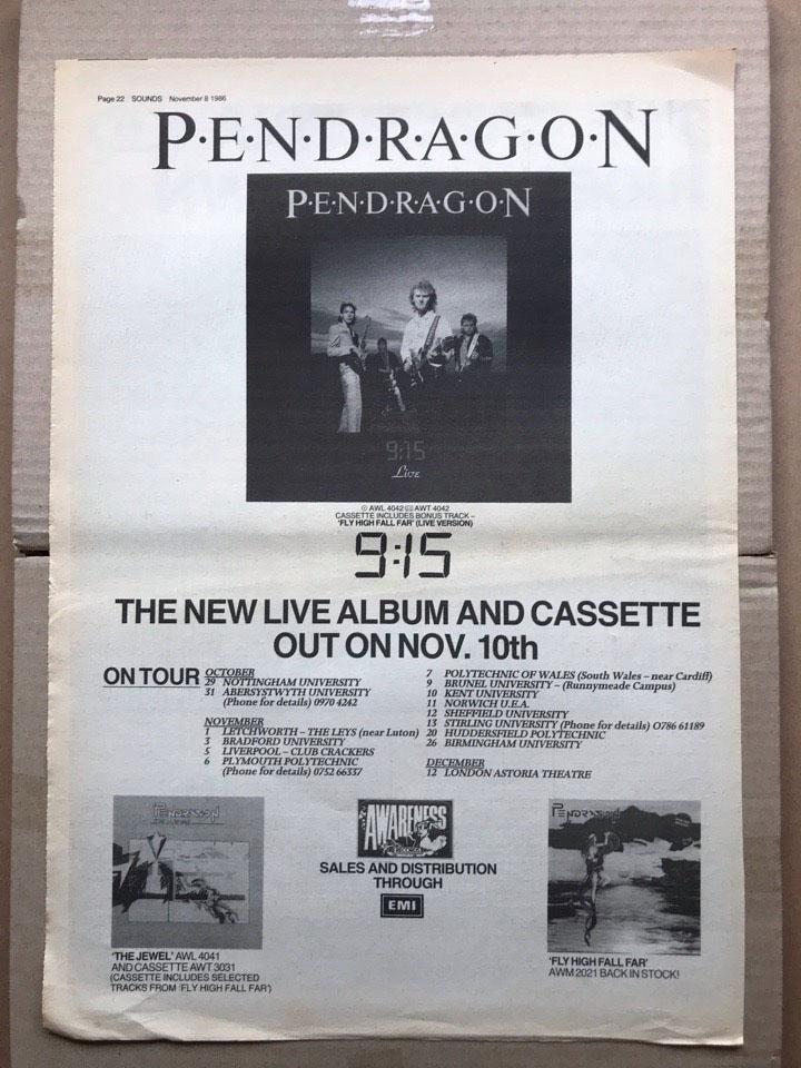 PENDRAGON - 9:15 - Poster / Display