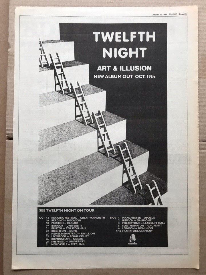 TWELFTH NIGHT - ART & ILLUSION - Poster / Display