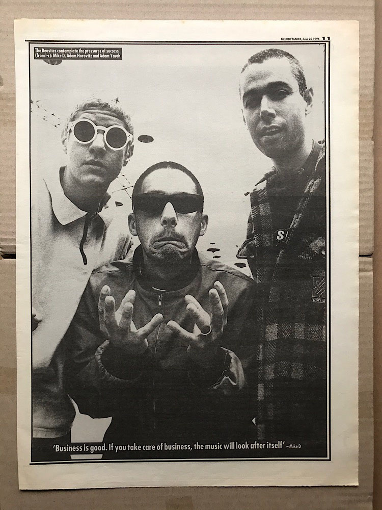 BEASTIE BOYS - BLACK AND WHITE PIN-UP - Poster / Affiche