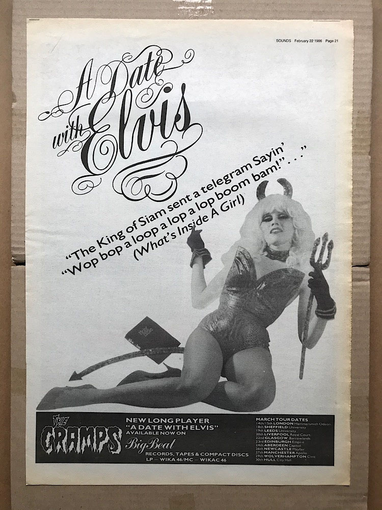 CRAMPS - A DATE WITH ELVIS - Poster / Affiche