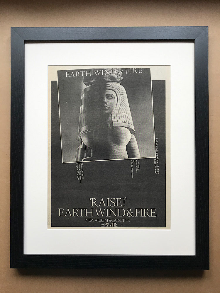 EARTH WIND AND FIRE - RAISE! (FRAMED) - Poster / Affiche