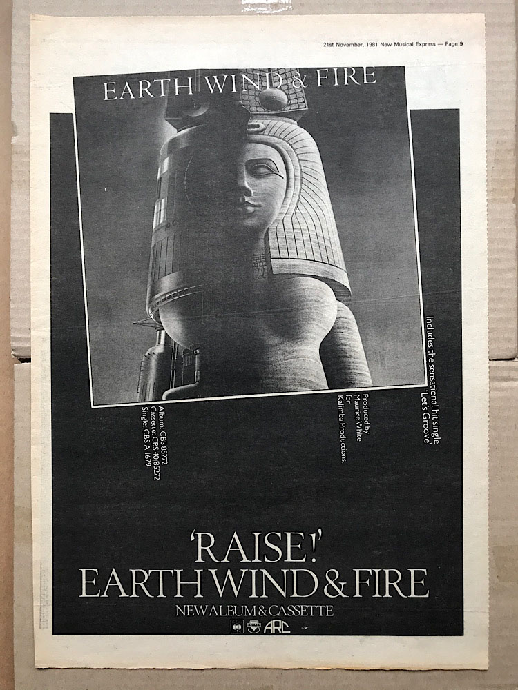 EARTH WIND AND FIRE - RAISE! - Poster / Affiche