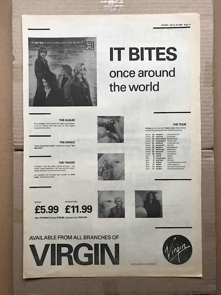 IT BITES - ONCE AROUND THE WORLD - Poster / Display