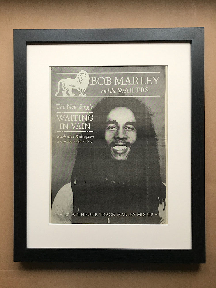 BOB MARLEY - WAITING IN VAIN (FRAMED) - Poster / Affiche