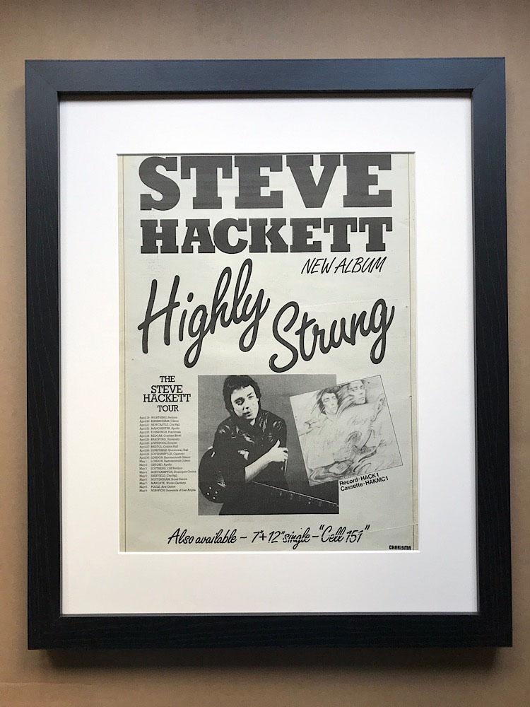 STEVE HACKETT - HIGHLY STRUNG (A)(FRAMED) - Poster / Display