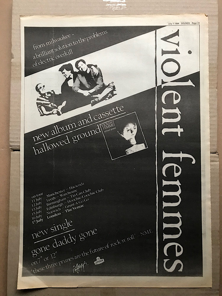 VIOLENT FEMMES - HALLOWED GROUND - Poster / Affiche