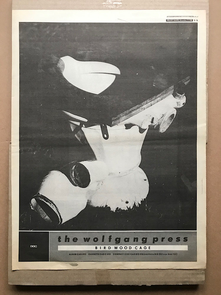 WOLFGANG PRESS - BIRD WOOD CAGE - Poster / Affiche