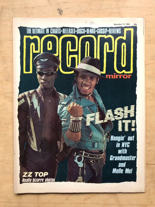 GRANDMASTER FLASH/MERCYFUL FATE - RECORD MIRROR - Magazine