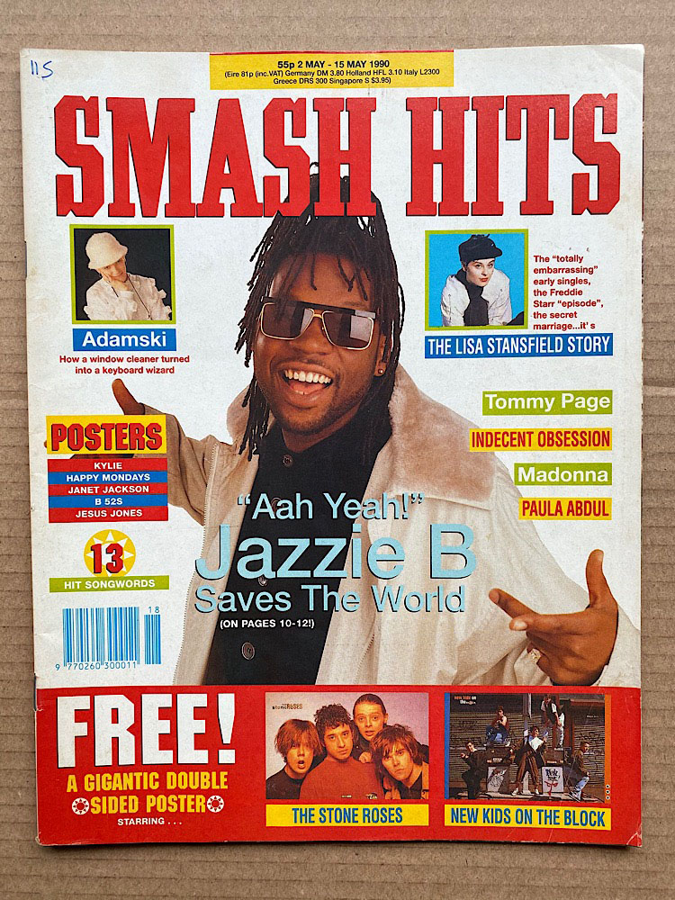 JAZZIE B - SMASH HITS - Magazine