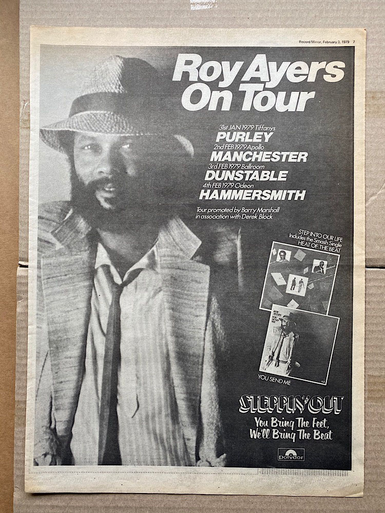 ROY AYERS - ON TOUR 1979 - Poster / Display
