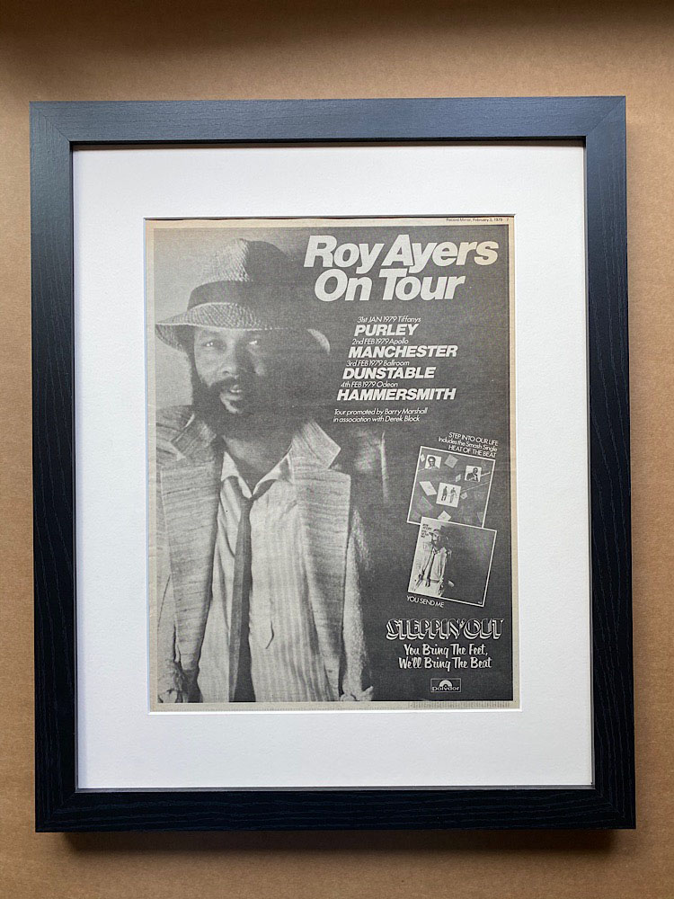 ROY AYERS - ON TOUR 1979 (FRAMED) - Poster / Display