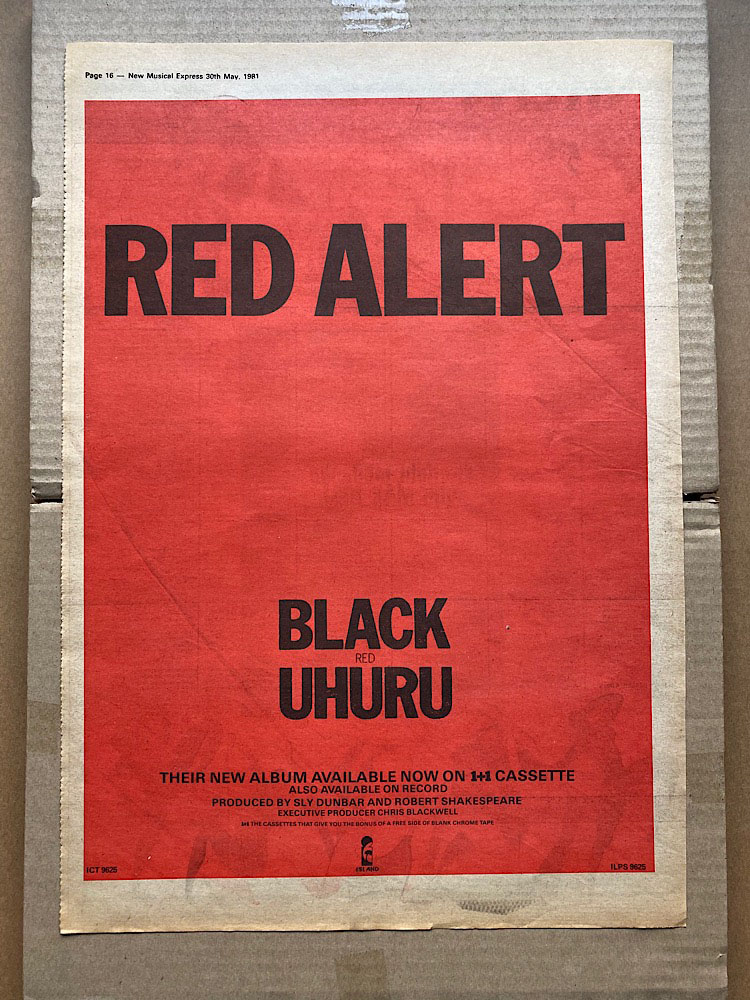 BLACK UHURU - RED(B) - Poster / Affiche