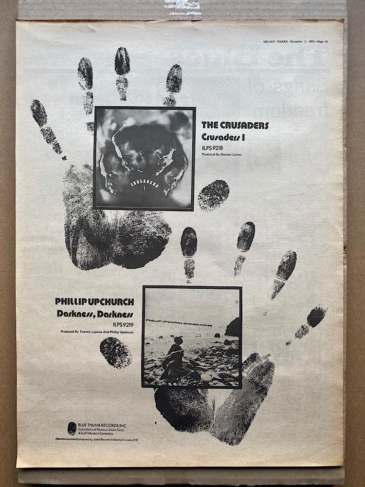 CRUSADERS - + PHILLIP UPCHURCH - Poster / Display