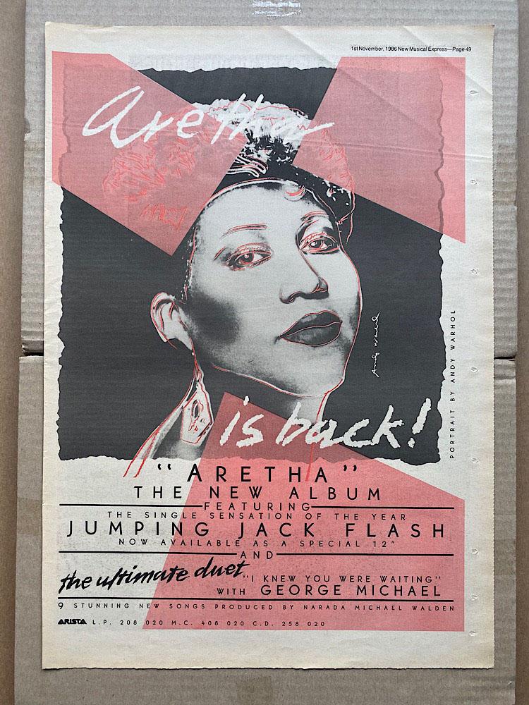 ARETHA FRANKLIN - ARETHA - Poster / Display