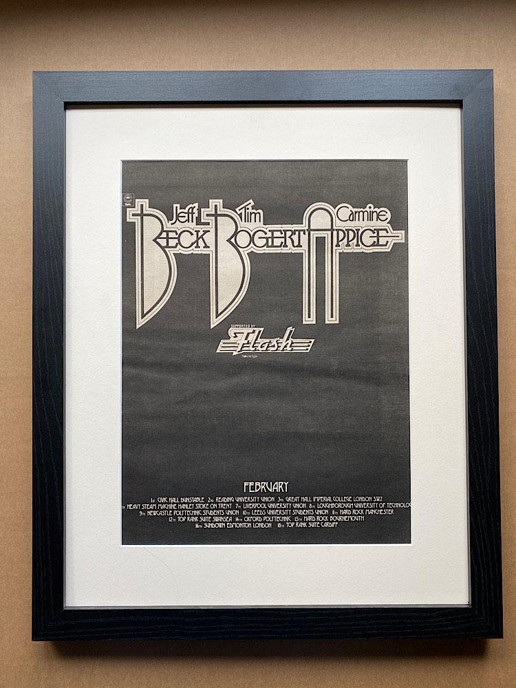 BECK BOGERT APPICE - FEBRUARY 1973 TOUR(FRAMED) - Poster / Display