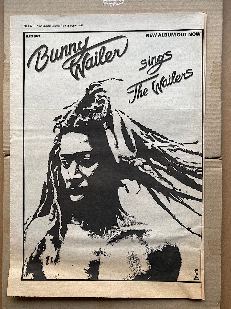 BUNNY WAILER - SINGS THE WAILERS - Poster / Display