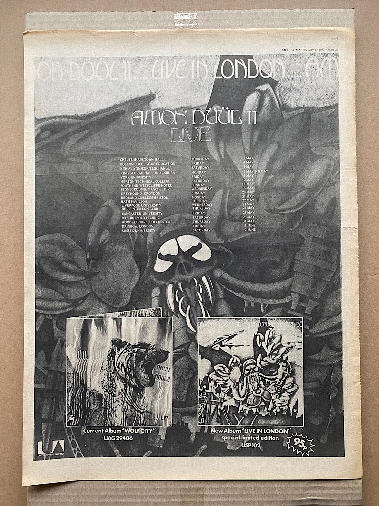 AMON DUUL II - LIVE IN LONDON - Poster / Display
