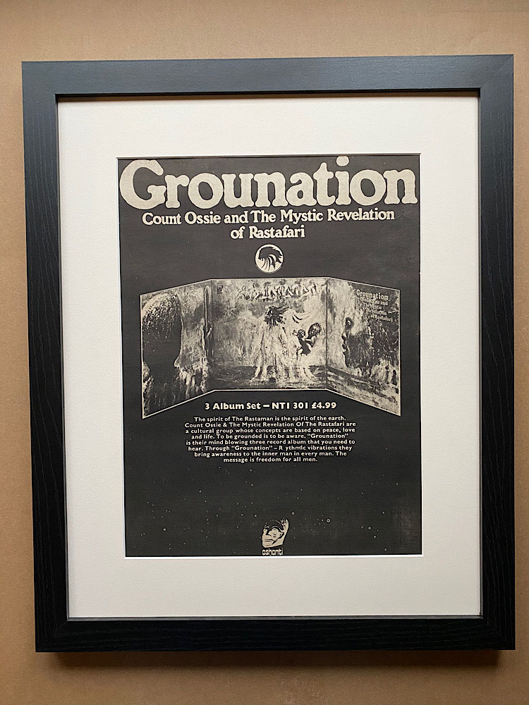 COUNT OSSIE/MYSTIC REVELATION - GROUNATION (FRAMED) - Poster / Affiche