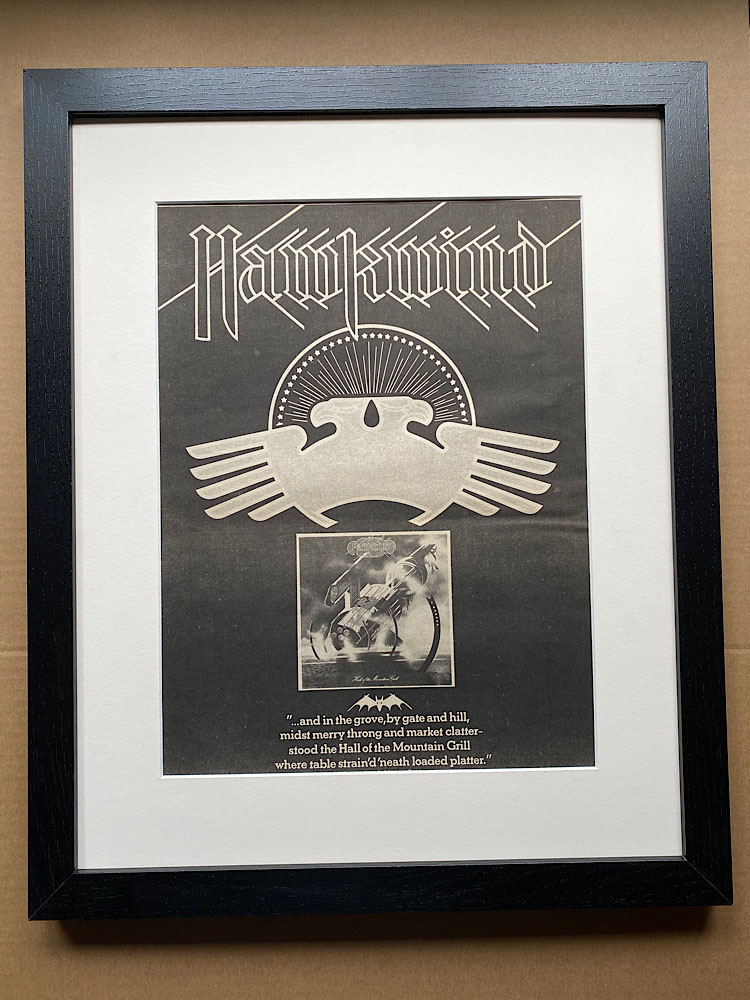 HAWKWIND - HALL OF THE MOUNTAIN GRILL(A)(FRAMED) - Poster / Affiche