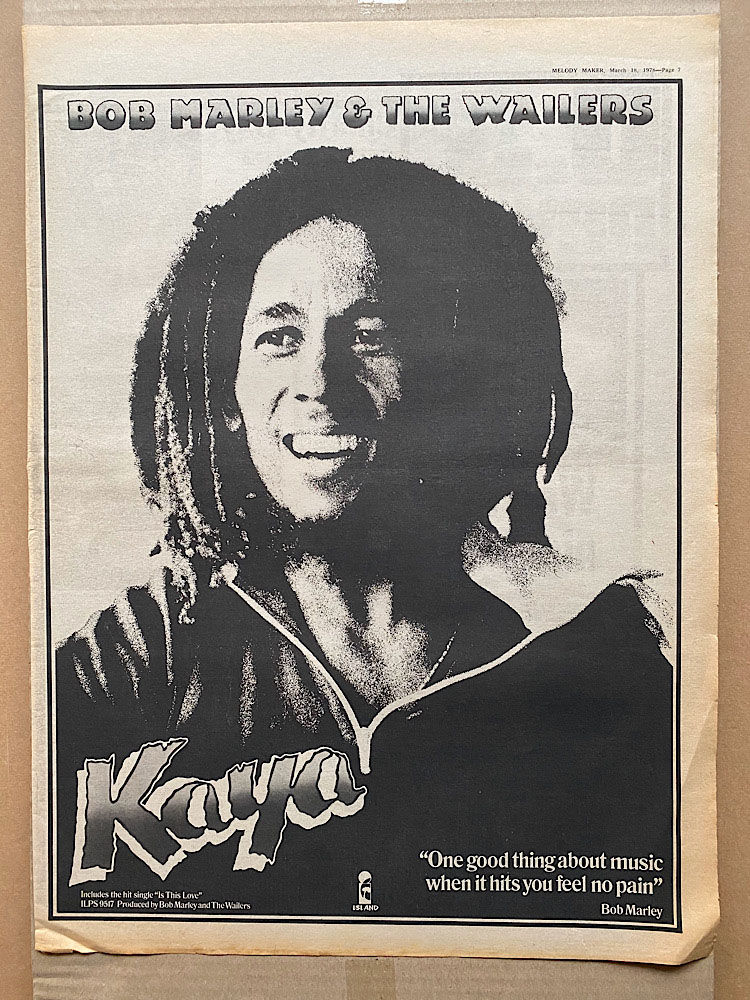 BOB MARLEY - KAYA (B) - Poster / Display