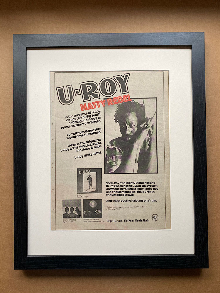 U-ROY - NATTY REBEL (FRAMED) - Poster / Affiche