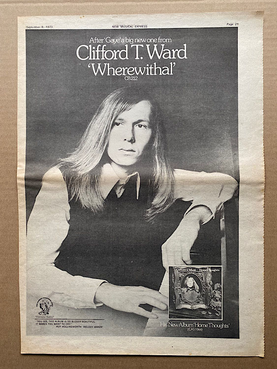 CLIFFORD T. WARD - WHEREWITHALL - Poster / Display