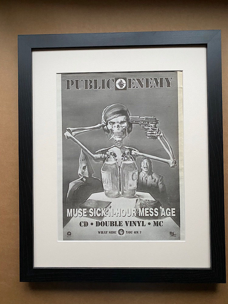 PUBLIC ENEMY - MUSE SICK-N-HOUR MESS AGE (FRAMED) - Poster / Display