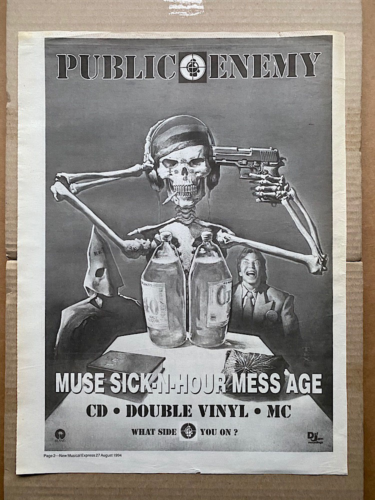 PUBLIC ENEMY - MUSE SICK-N-HOUR MESS AGE - Poster / Affiche