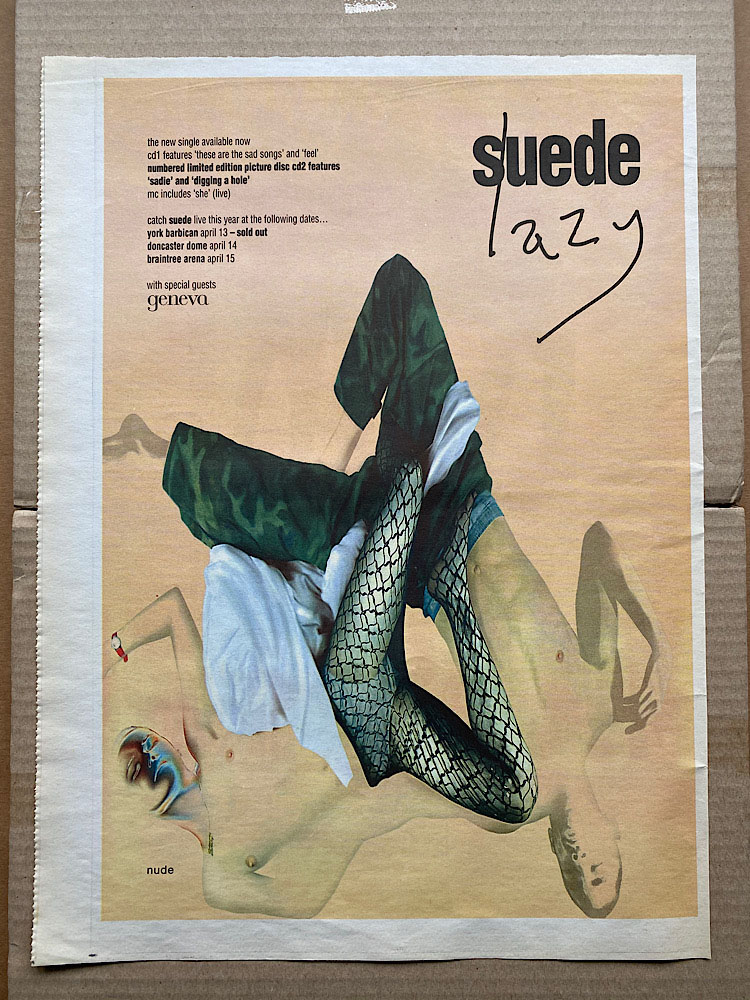 SUEDE - LAZY - Poster / Affiche