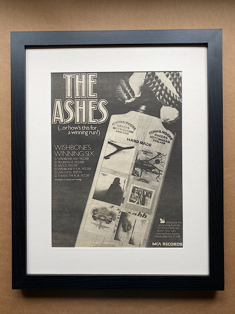 WISHBONE ASH - THE ASHES (FRAMED) - Poster / Affiche