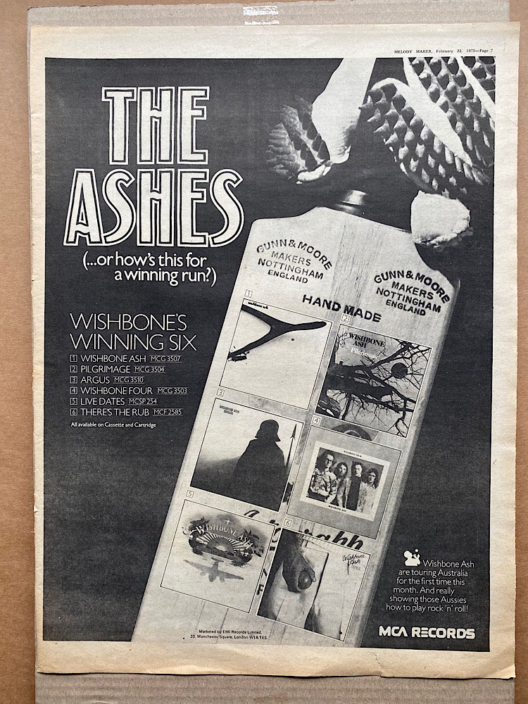 WISHBONE ASH - THE ASHES - Poster / Affiche