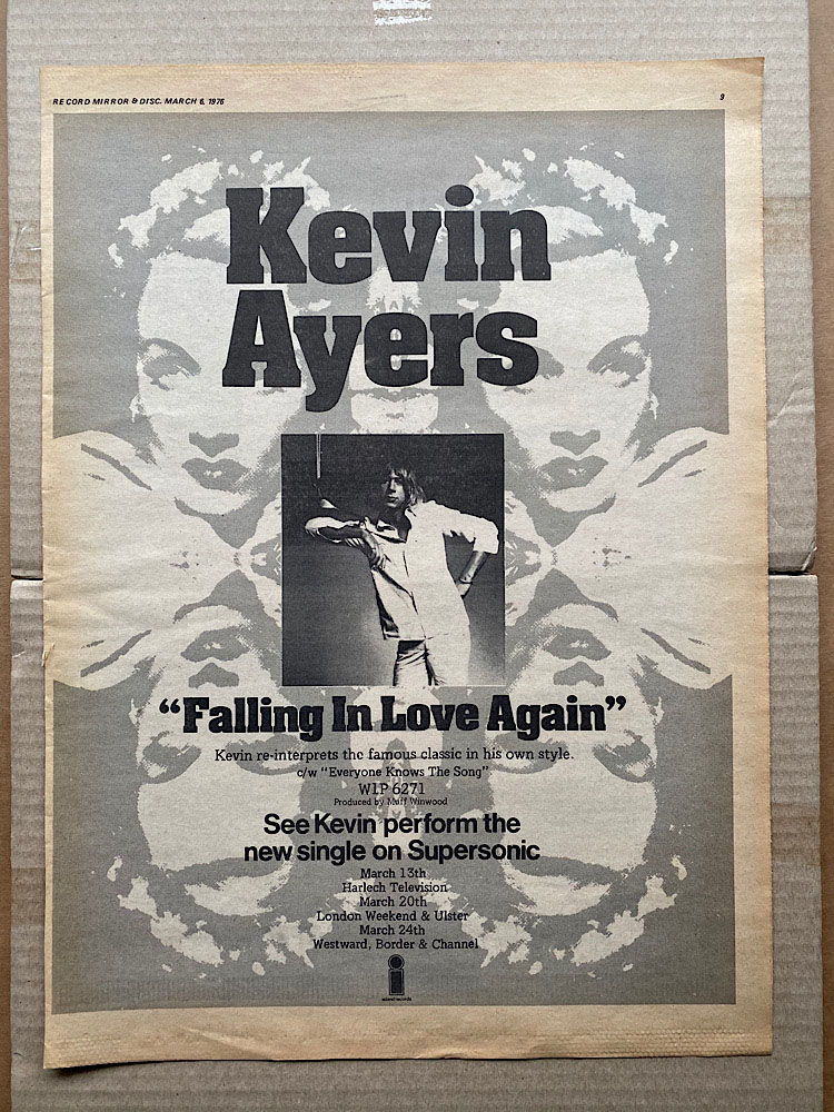 KEVIN AYERS - FALLING IN LOVE AGAIN - Poster / Affiche