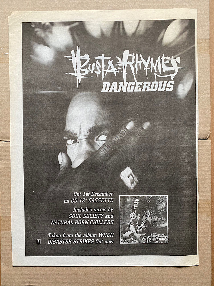 BUSTA RHYMES - DANGEROUS - Poster / Display