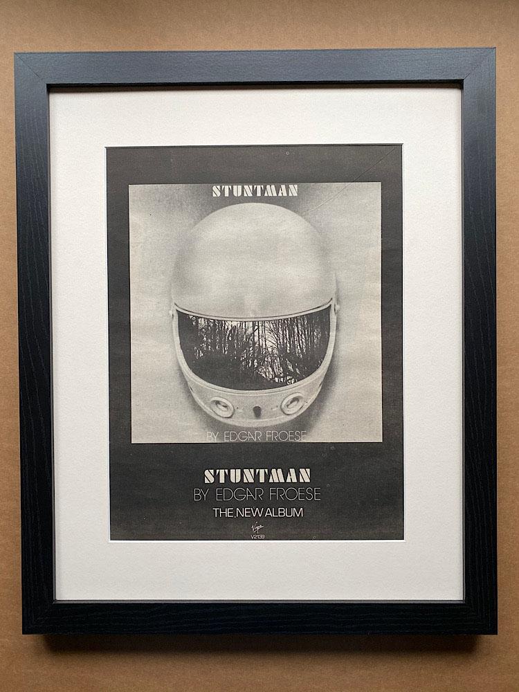 EDGAR FROESE - STUNTMAN (FRAMED) - Poster / Affiche