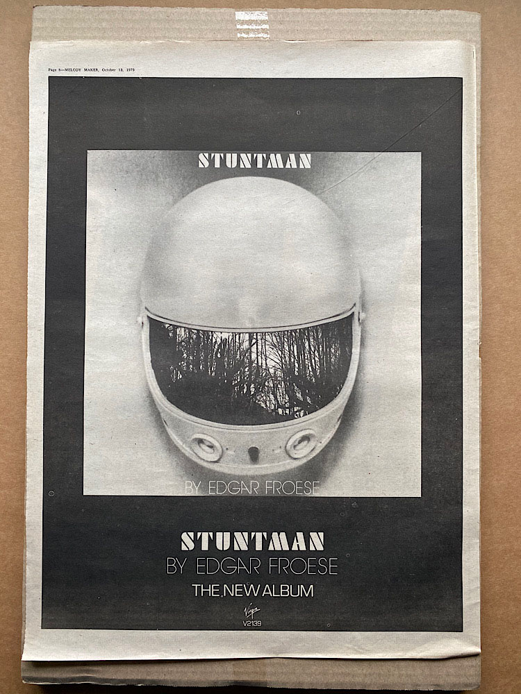 EDGAR FROESE - STUNTMAN - Poster / Affiche