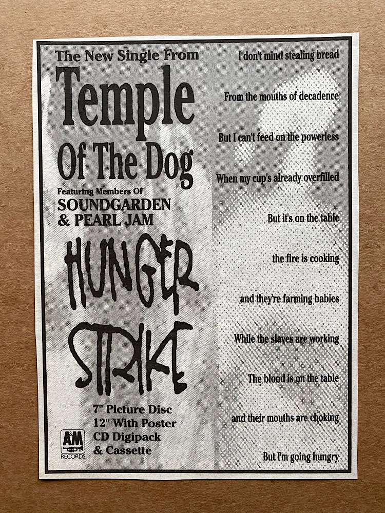 TEMPLE OF THE DOG - HUNGER STRIKE - Autres