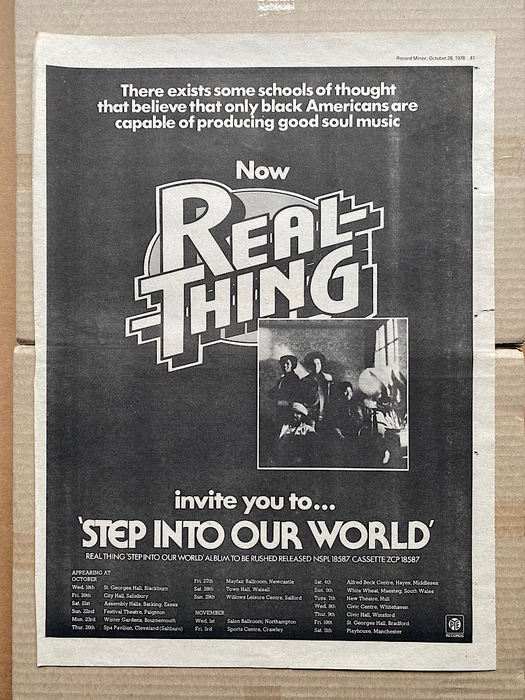 REAL THING - STEP INTO YOUR WORLD - Poster / Display