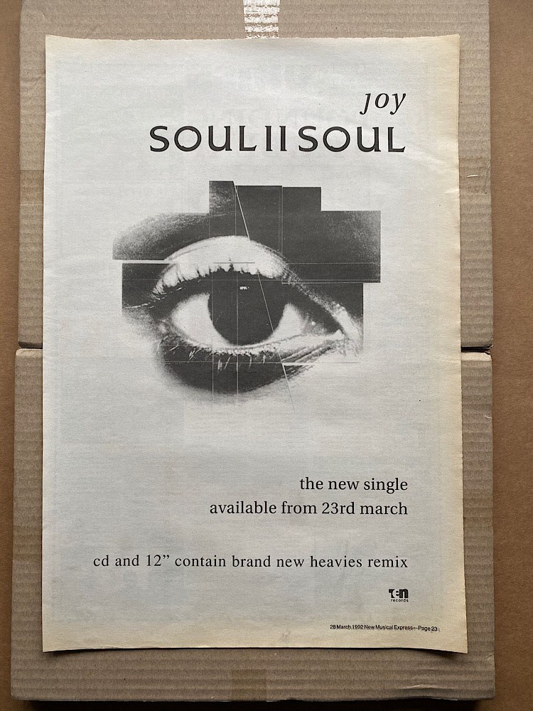 SOUL II SOUL - JOY - Poster / Display