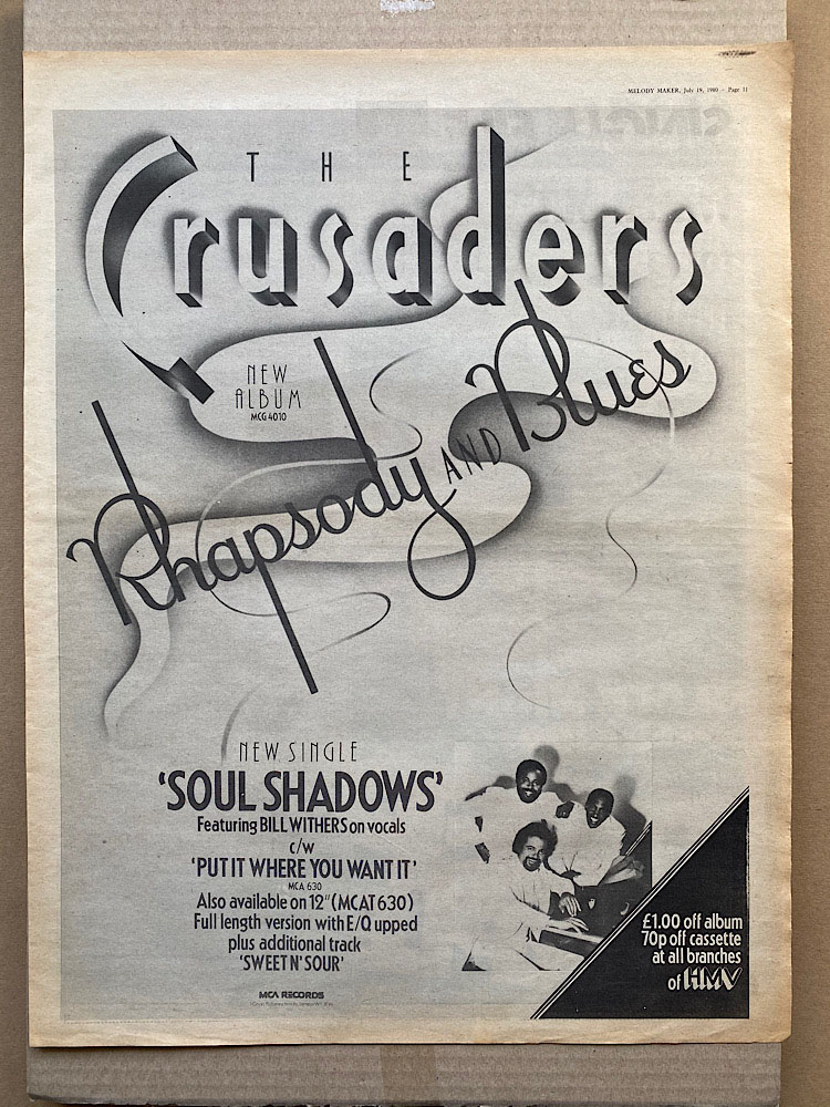 CRUSADERS - RHAPSODY AND BLUES - Poster / Display