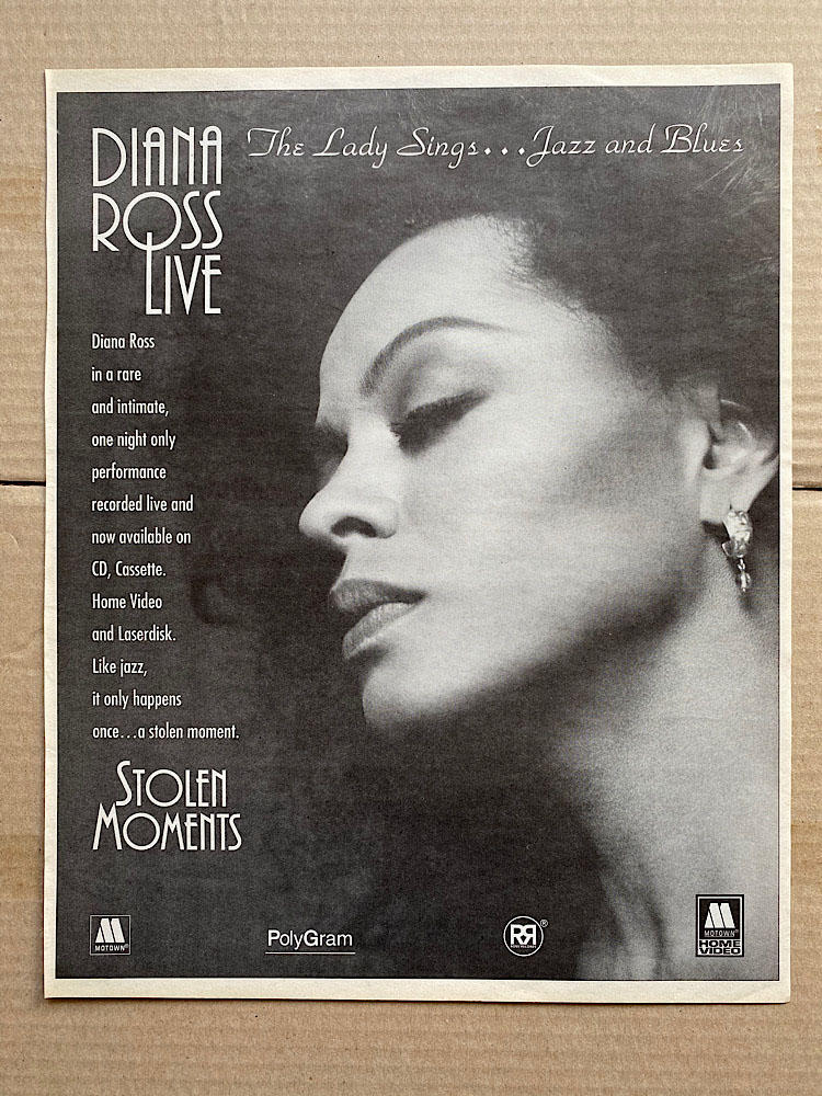 DIANA ROSS - STOLEN MOMENTS - Poster / Display