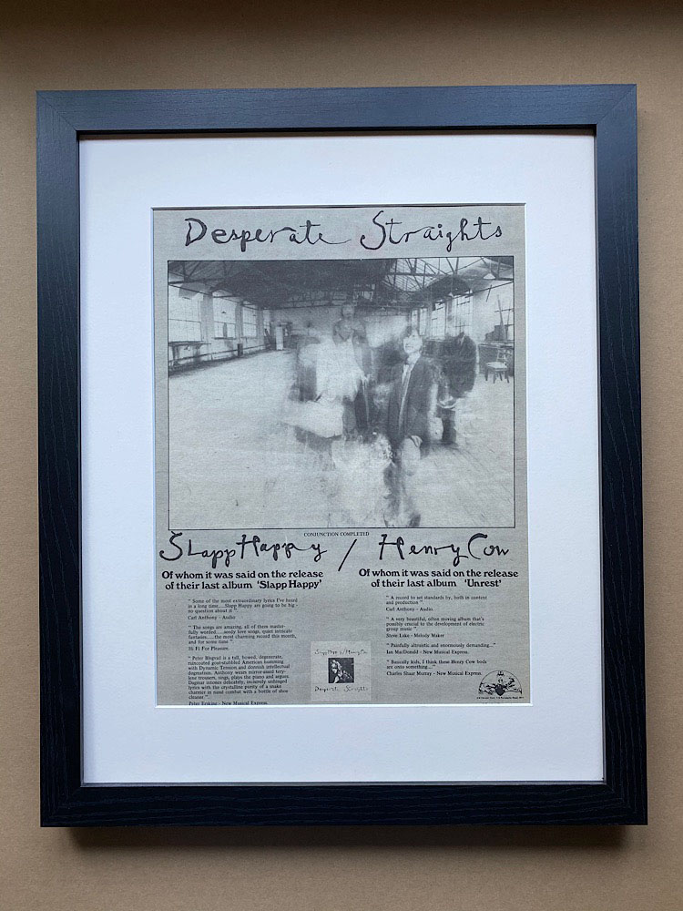 SLAPP HAPPY/HENRY COW - DESPERATE STRAIGHTS(FRAMED) - Poster / Display