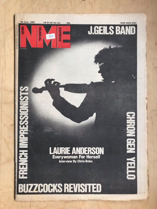 LAURIE ANDERSON - NME