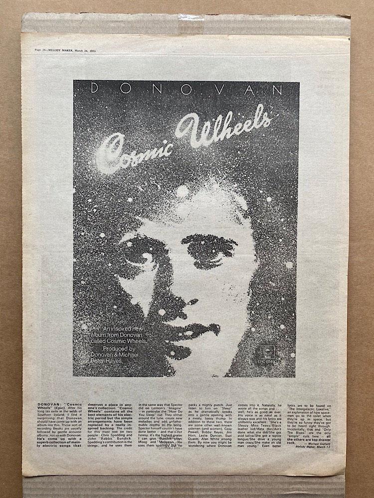 DONOVAN - COSMIC WHEELS (A) - Poster / Display